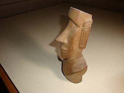 Easter Island Moai, Rapa Nui Statue, Vintage Wood Carving, La Isla de Pascua1973
