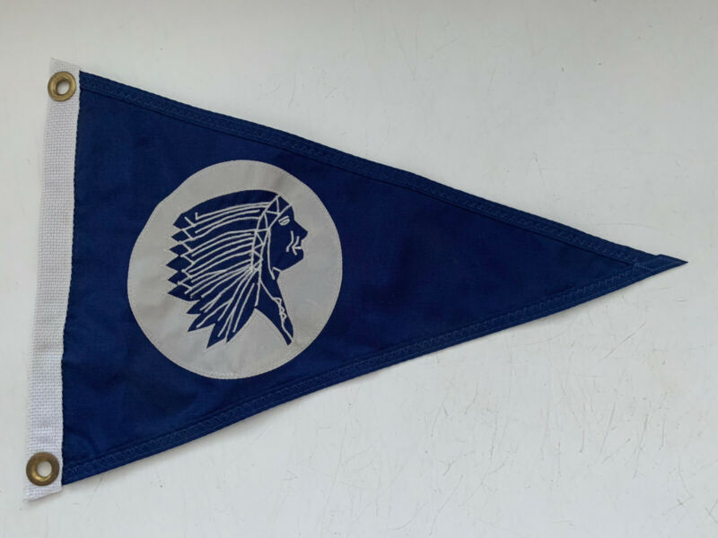 Vintage Nautical Indian Boat Flag Pennant Nylon Prestige