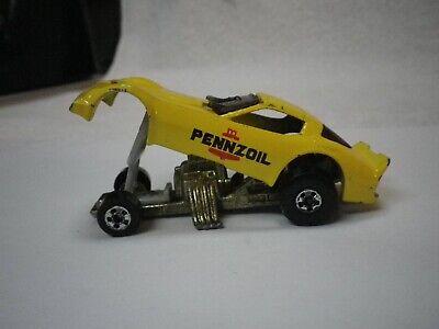 1980's Hot Wheels Firebird Funny Car Yellow Pennzoil