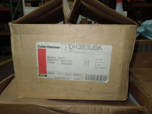 Cutler Hammer Dh363ugk Heavy Duty Non-fusible Safety Switch 100a 600v Type 1 Enc
