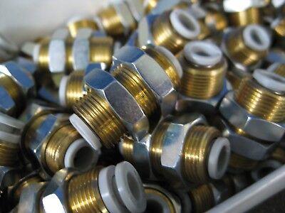 Smc Kq2e06-00a Bulkhead Union Brass Fitting Lot Of 50 New Wf