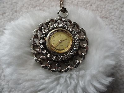 Louvic 17 Jewels Wind Up Necklace Pendant Watch
