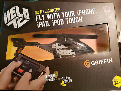 Brand New Griffin Helo TC Touch Controlled Helicopter w/iOS App Support See pic