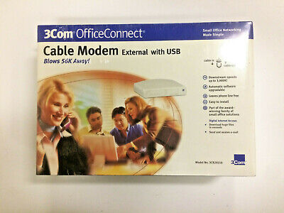 New 3Com OfficeConnect Cable Modem 3CR29210 With USB (Open - 3com Cable Modem Cable