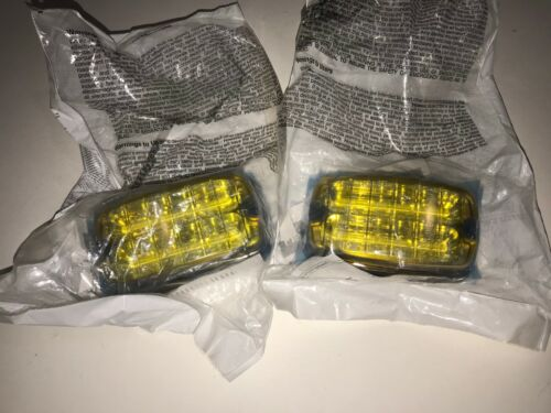 Pair of Whelen M4 Amber Linear Surface Mount LED Lights M4A