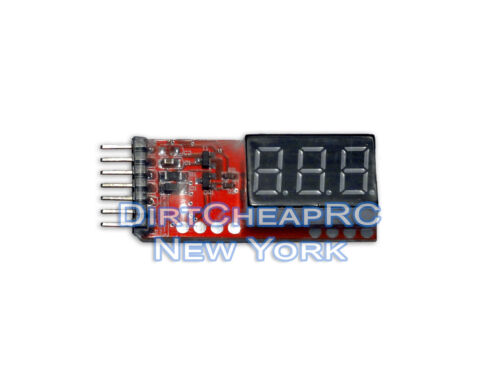 LiPo Cell Checker 2S-6S Voltage Meter Lithium Battery Tester LiHV LiFe Lion
