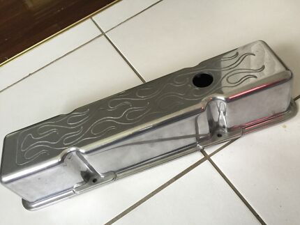 Chev tappet covers flamed sbc