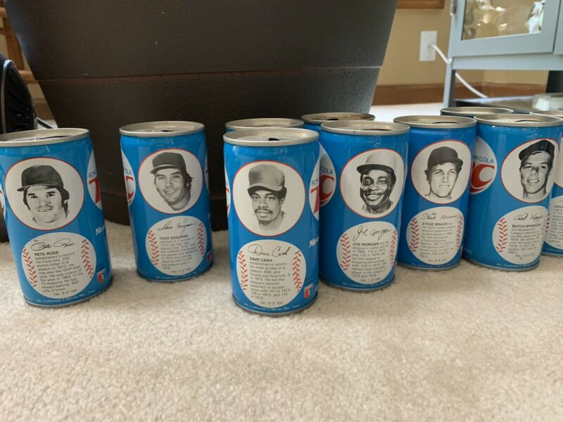 (75) RC Cola baseball cans