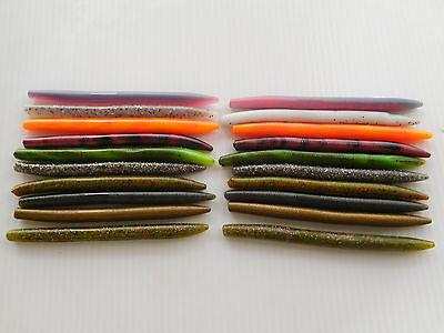 "30 pk 4/"" Senko Style-CRAWDAD ORANGE SWIRL-Soft Plastic Bass Worms SALT SCENT-USA"
