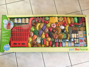 Just Like Home - 140+ Piece Food and Shopping Cart Set (New)