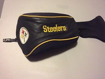 GOLF PITTSBURGH STEELERS 5 FAIRWAY WOOD HEADCOVER - NFL Head Cover Black Gold Pittsburgh Steelers Golf Headcover