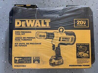 New In Box Dewalt Dce200m2k Pipe Pro Press Copper Crimp Tool Kit