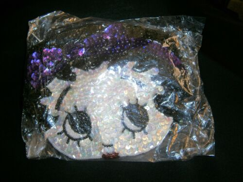 BETTY BOOP SEQUIN SMALL BAG WITH CORD STRAP ... NEW... Purple Headband