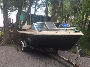 15ft grew boat and trailer