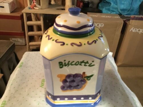 Biscotti Square Shaped cookie jar