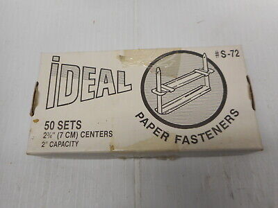 Ideal Paper Fastener S-72 2 Capacity Approximately 50 In Box 2 34 7cm Centers