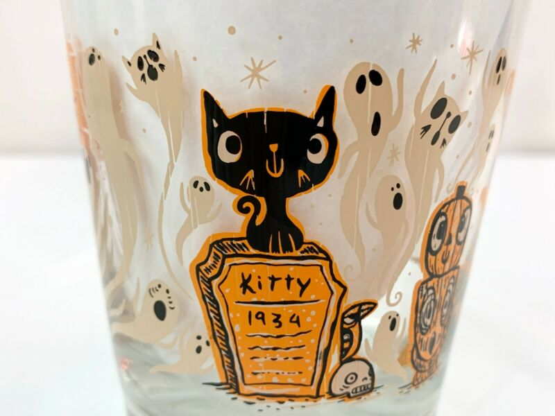 Tiki tOny Halloween Hulaween Glass Double Old Fashioned Mai Tai Ghost Retired