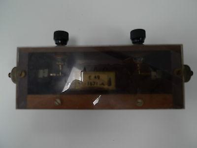 Resistor .1671 Ohm Mounted Wooden Box Vintage Physics Electronics Lab Apparatus