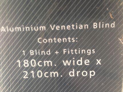 Venetian blinds - silver grey $20 each x 7