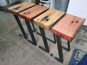 RECYCLED RAILWAY SLEEPER SIDE TABLES Surry Hills Inner Sydney Preview
