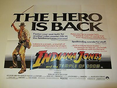 Indiana Jones And The Temple Of Doom Movie Poster Harrison Ford