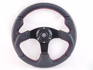 YAMAHA GOLF CART & RHINO steering wheel W/ Adapter 3 spoke Carbon Fiber