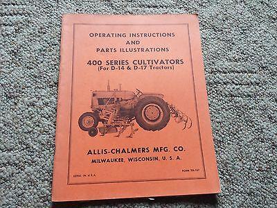 Original Allis Chalmers Operating Manualparts 400 Series Cultivators Tm-167