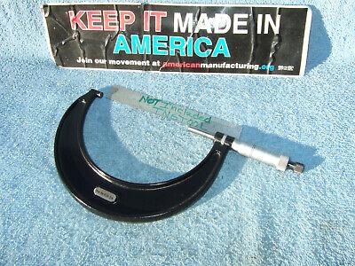 Starrett 4-5 T436xrl-5 No Box Micrometer 0001 Toolmaker Machinist Grind Mill