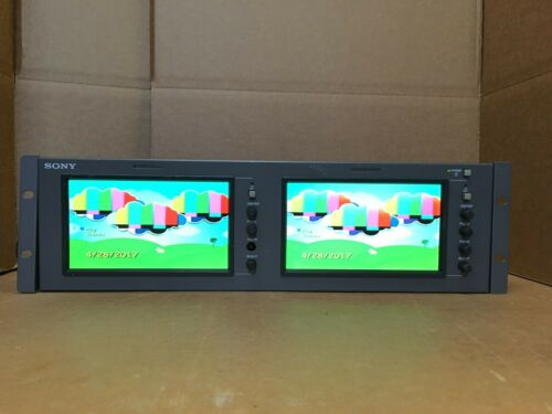 Sony LMD-7220W Dual 7-Inch LCD Monitors WITH AC/ADAPTER