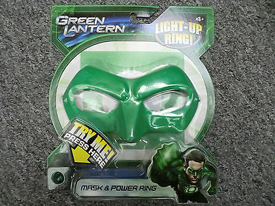 GREEN LANTERN HAL JORDAN MASK & POWER RING LITES UP 2011 PROP COSTUME - Hal Jordan Costume