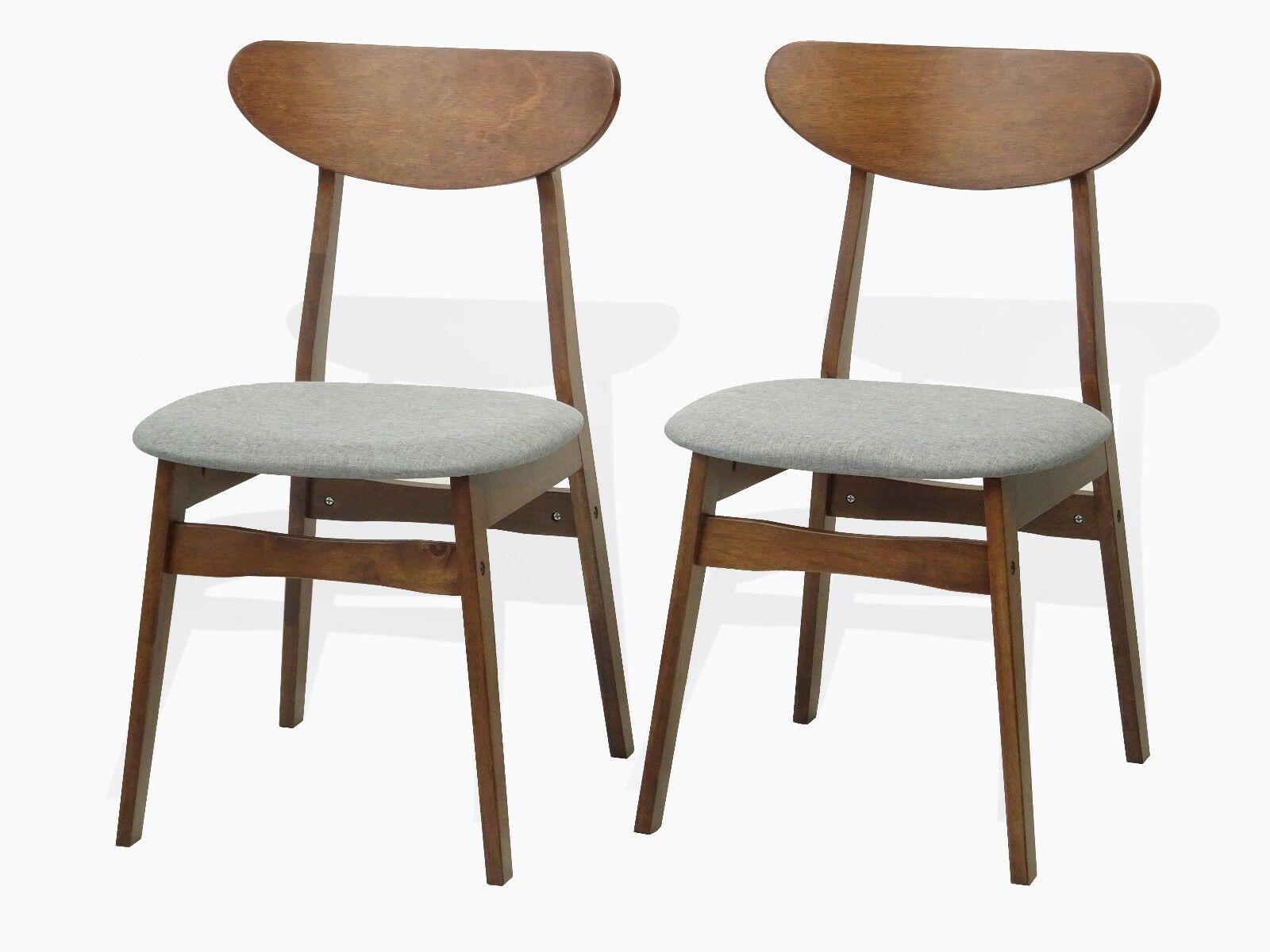 Modern Set of 2 Yumiko Dining Kitchen Side Chairs Solid Wood