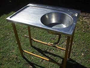 Stainless steel camping sink Nerang Gold Coast West Preview