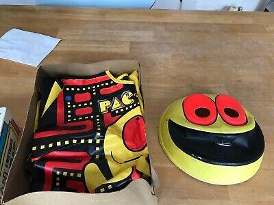 Vintage 1980 Midway Pac Man Ben Cooper Vinyl Halloween Costume/Box Arcade Gamer
