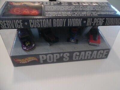 Hot Wheels - POPS GARAGE ---  4 CAR SET - CIVIC / GTX / DUECE / HOOLIGAN 0- 2001