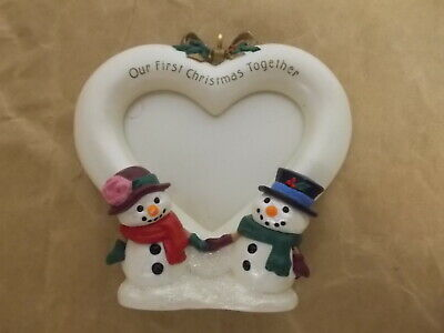 1999 Hallmark Cards Our First Christmas Together Holiday Snowman Tree Ornament ()