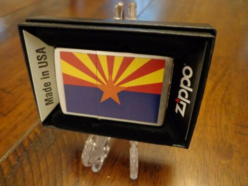 ARIZONA STATE FLAG SERIES ZIPPO LIGHTER MINT IN BOX