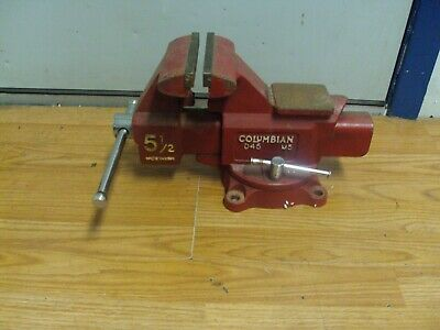 Columbian D45-m5 Swivel Base Bench Vise 5-12 Jaws Made In Usa