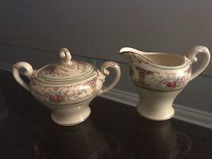 Mid Century Myott Porcelain Milk & Creamer