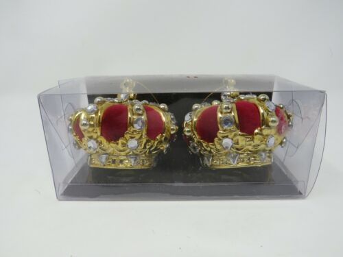 Royal Collection Buckingham Palace Crown King Queen Christmas Ornaments NIB