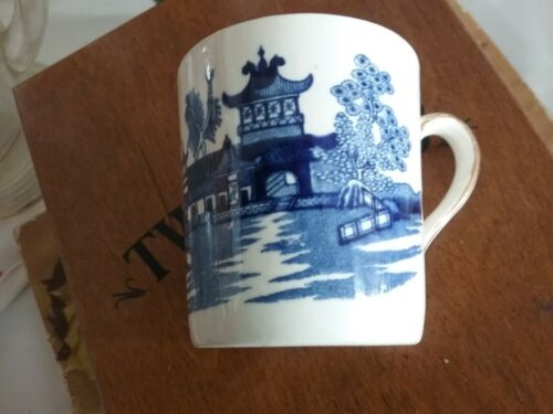 BURLEIGH WARE WILLOW COFFEE CAN EXPRESSO CUP ONLY ENGLAND