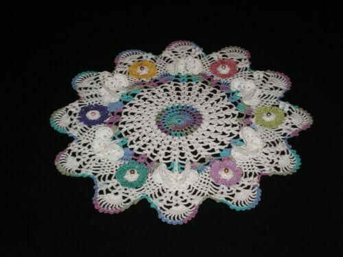 New Handmade Crocheted Doily Flowers/Butterflies Pineapple