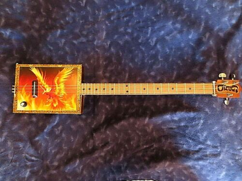 Rising Phoenix - GpaD Custom Made Cigar Box Guitars