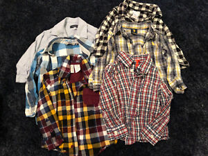 2T - Boys Long Sleeved Dress/Plaid Shirts