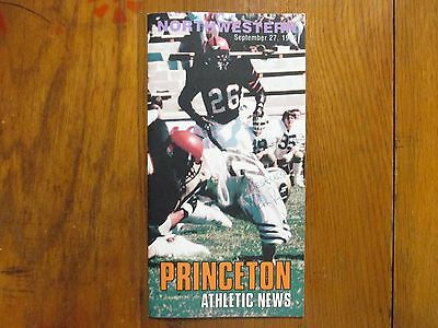 RON ROGERSON (Died in 1987) Signed 1986 Princeton Athletic News/Football Program