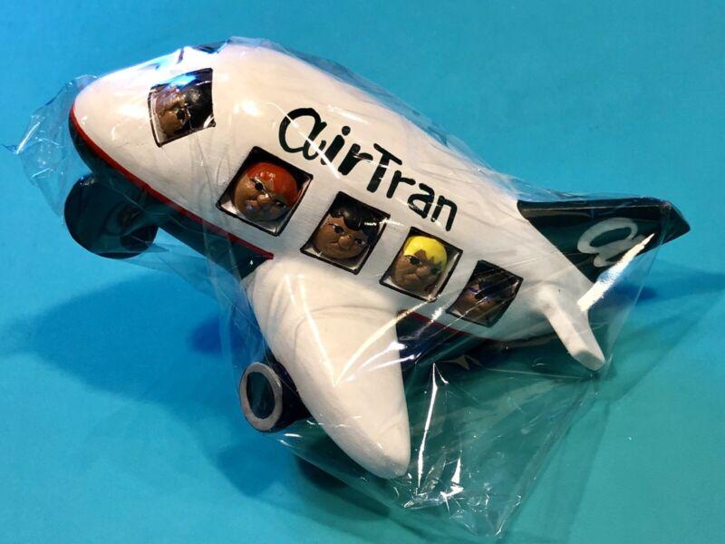 AIRTRAN AIRWAYS HAND PAINTED CERAMIC PLANE
