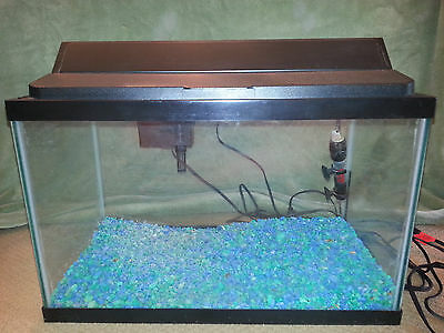 10 GALLON FISH TANK Kit Fully Loaded AQUARIUM LIGHT THERMOMETER FILTER HEATER