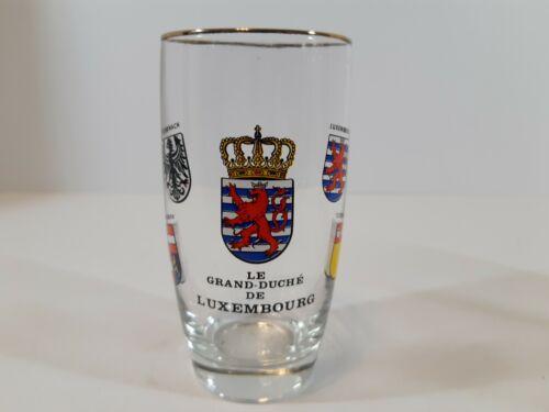 vintage le grand duche de luxembourg small thin beer glass souvenir