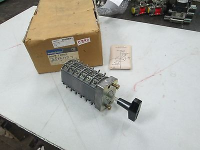 Westinghouse Type W-2 Rotary Switch Dn42044-1 6 Pole 2 Position Cam Nib