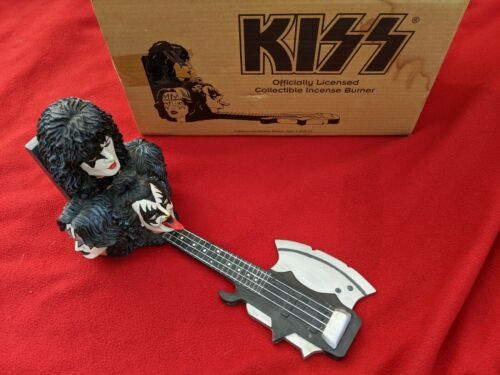 Officially Licensed KISS Incense Burner Gene Simmons Tongue Axe Guitar