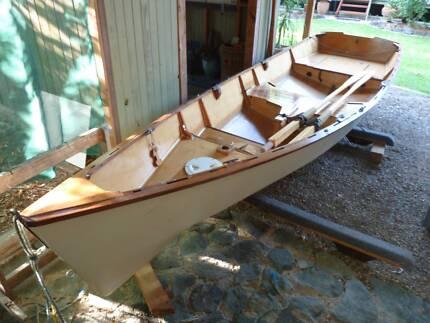 Wooden Boat sail, row, motor